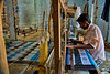 Handloom weaver at work - loved the patterns being churned out!