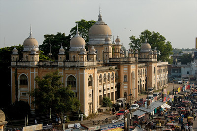 Charminar is a gateway to the city.  Hyderabad has a large Muslim population and is home to the largest Mosque in India