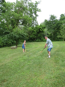 Croquet with Mike and Lily