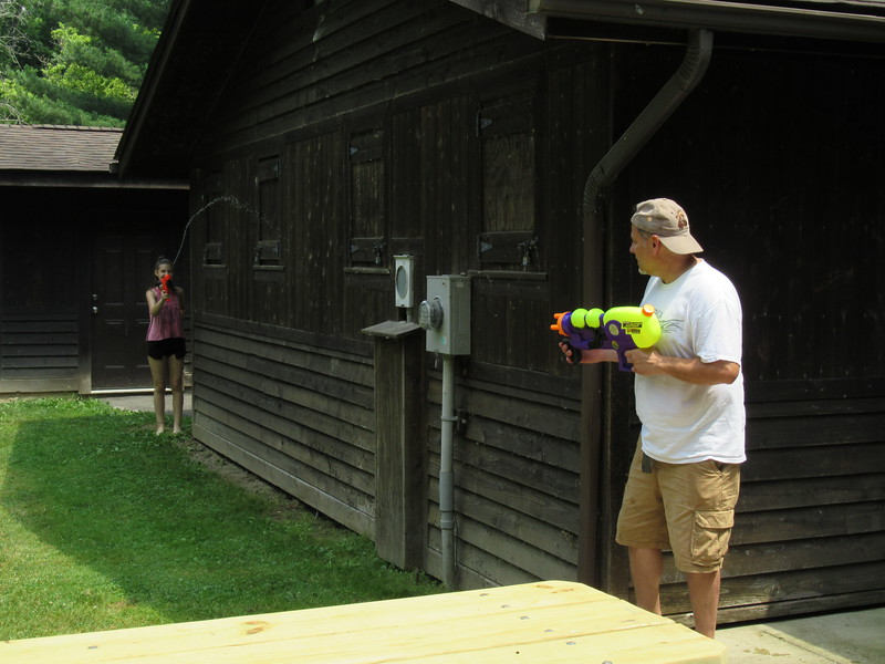 Doug and Molly with the water guns.