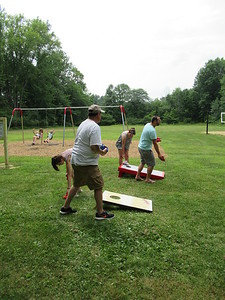 Cornhole with Doug, Molly, Dan and Kim.