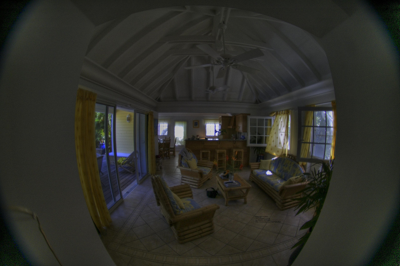 Interior view of our villa.