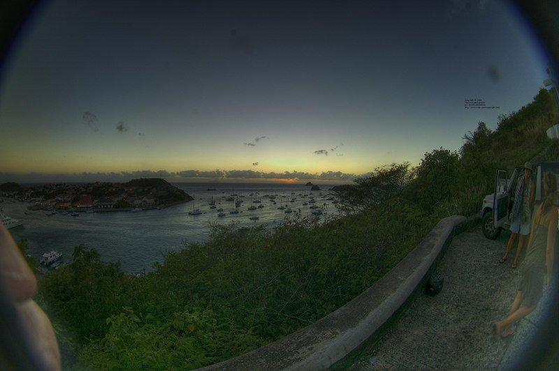Another view of the harbor at Gustavia.