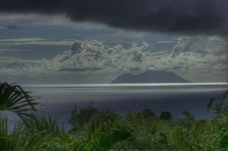 Looking at Saba from our villa