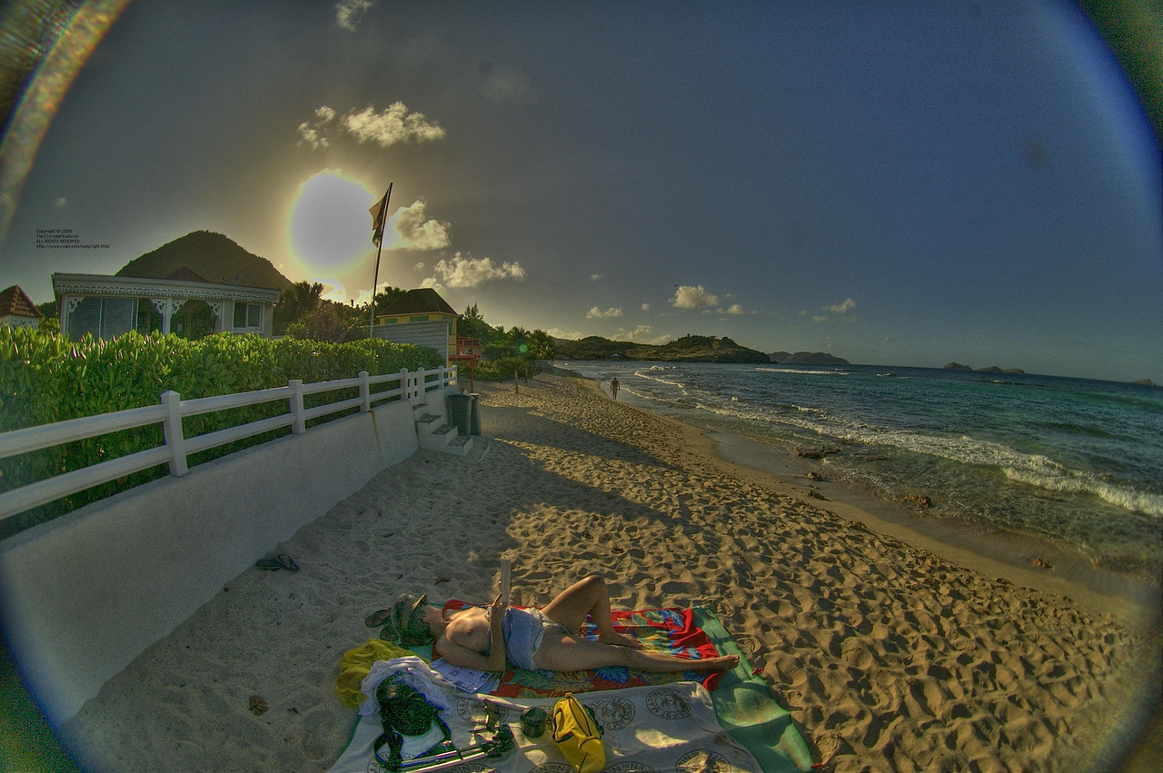 Another view of the beach at Lorient.
