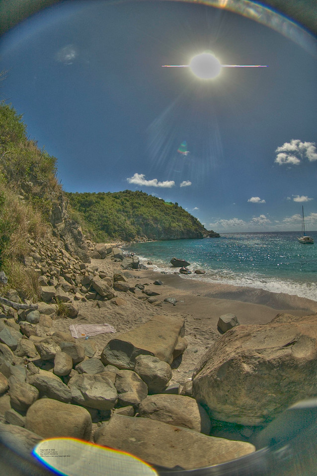 The beach at Colombier