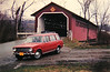 our Fiat 124 wagon, Vermont, april 1970a