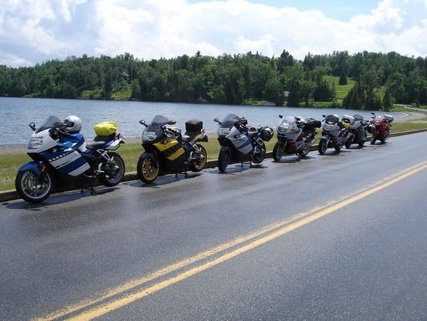 SSR 'gang' at pit-stop, near Lake Willoughby