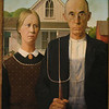 "The original ""Wood American Gothic"" by Grant Wood at the Art Institute of Chicago"