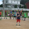 Dyersville IA<br /> <br /> Santino got his turn at bat and on the first pitch, laced a single down the third base line.