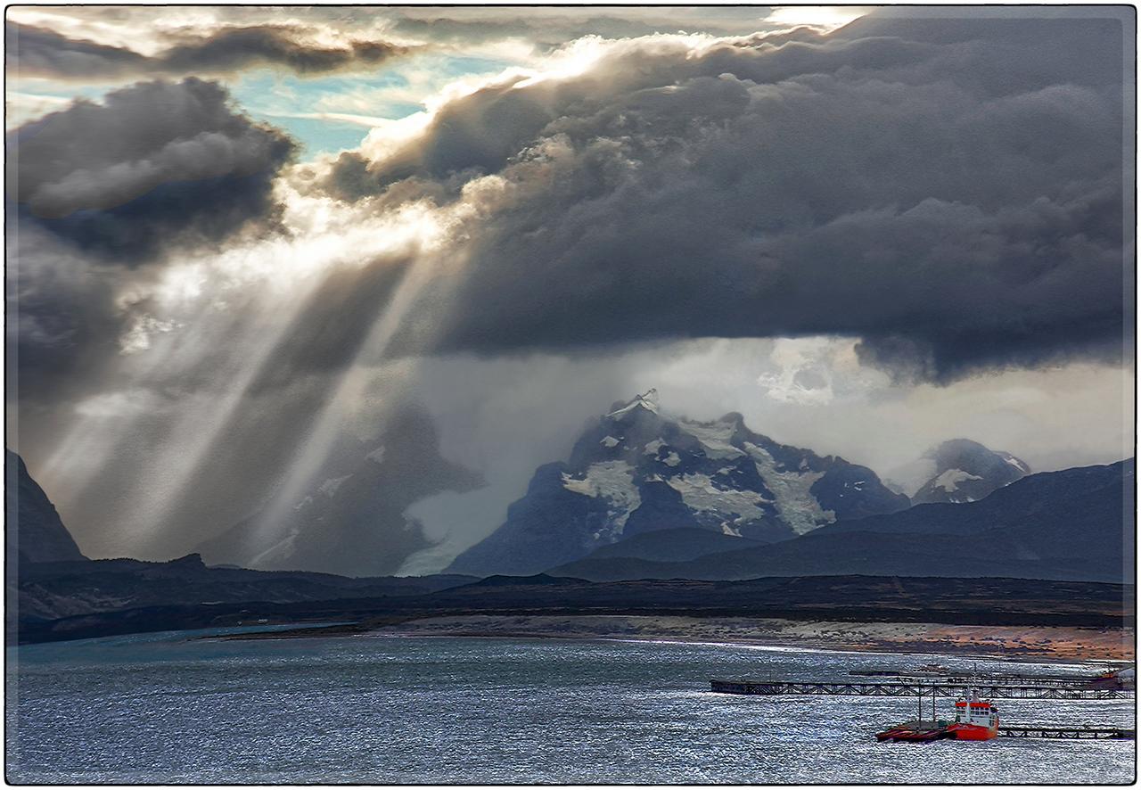 Sun Rays Over Puerto Natales