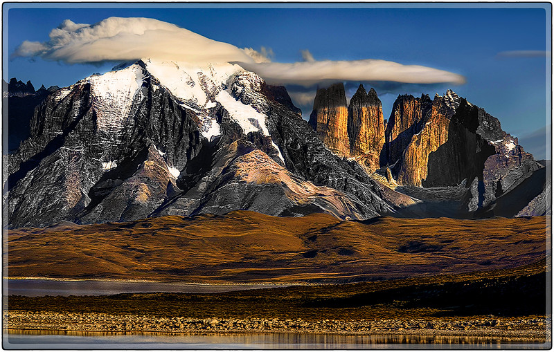 Lenticular Caps Over Las Torres Del Paine