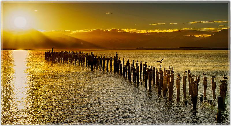 Sundown At The Bay Of Natales