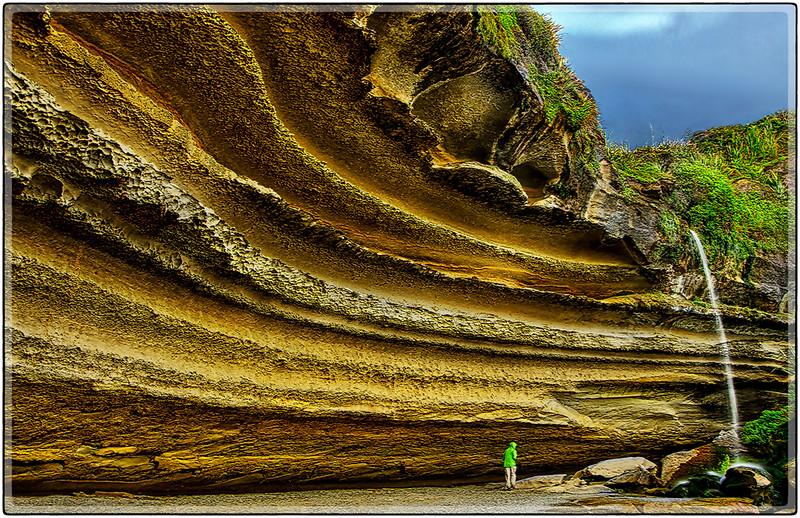 Oval Layered Rock, West Coast of South Island