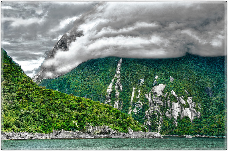 Low Clouds, Milford Sound, South Island