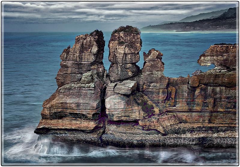 Rock Formations at Punakaiki's Blowholes