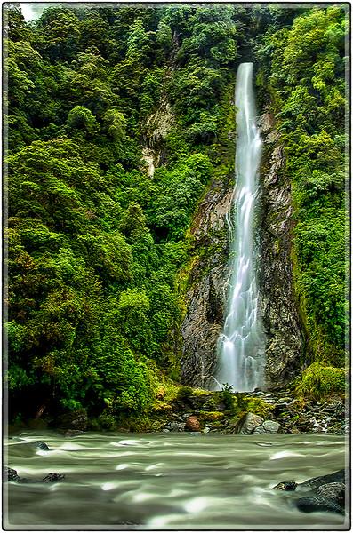 River Falls at Haast Pass, South Island