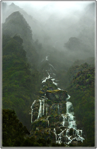 Waterfalls In The Mist, South Island