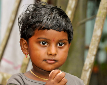 Young child in Kerala.