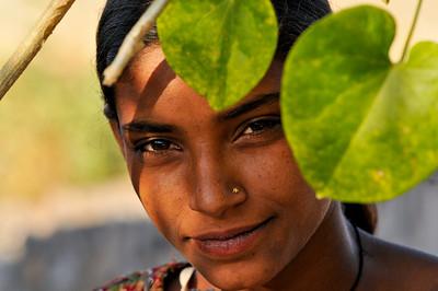 Neighborhood child at Ashok's school in Jaipur.