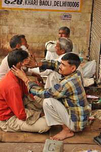 Street barbers.