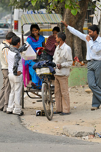Pedal rickshaws are also common in many Indian cities.