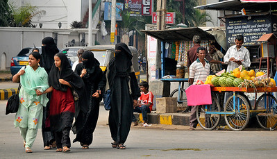 Street scenes. Relations between Hindus and Muslims appear generally to be good.