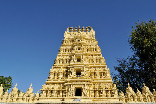 One of the temples on the grounds of the Mysore Palace.