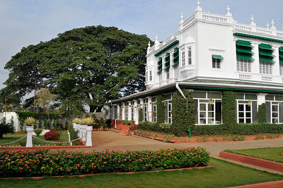 The Green Hotel just outside of Mysore. Very comfortable.