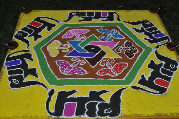 Finished sand painting.