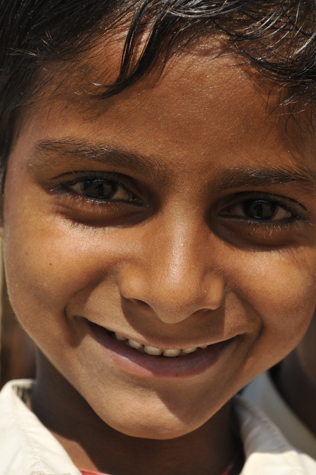 One of the pupils in the school.