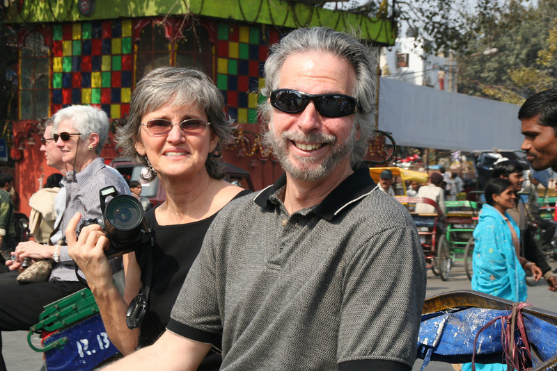 Larry & Andrea on the cart ride through town