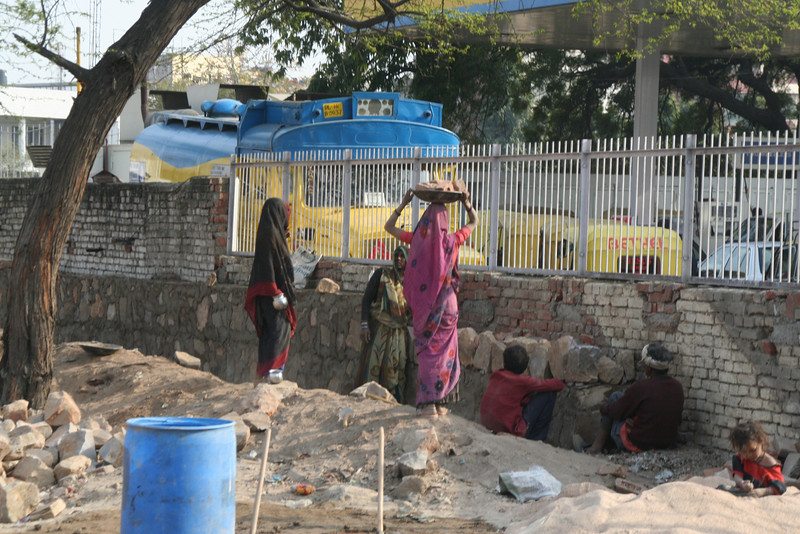Even in India the women do all the work!