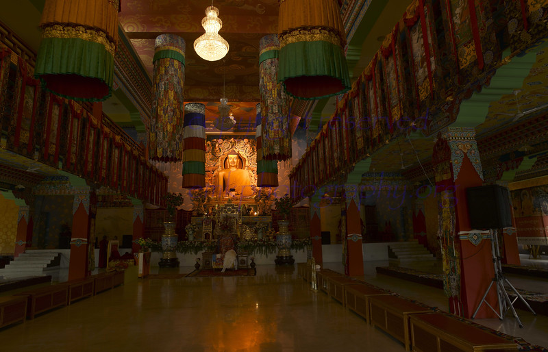 """World Heritage Site - Temple at Bodhgaya - The Tibetan Temple at the fringe.<br /> This picture has lots of details.<br /> Click """"original size"""", and look for the details in the image of Buddha."""