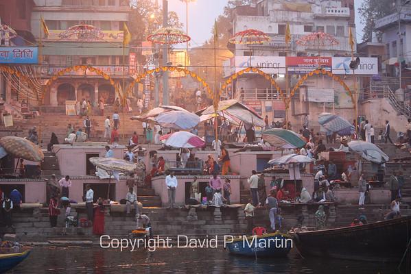 Morning at the Ghat at Varanasi.