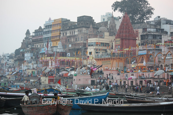 The Ghats at Varanasi.