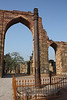 At the Qutb complex. An iron pillar from the fourth century A.D. - no rust.