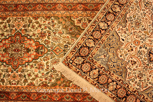 Rugs, in the tradition of Kashmir.