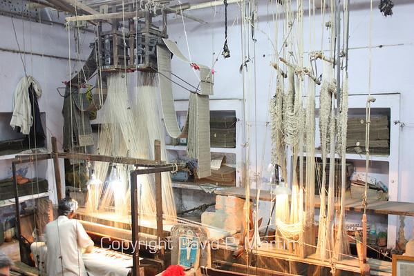Rug weaving in Varanasi.