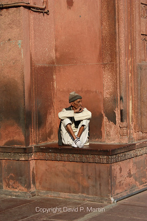At the Jami Masjid mosque in Old Delhi.