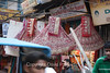 The Chandni Chowk bazaar in Old Delhi.