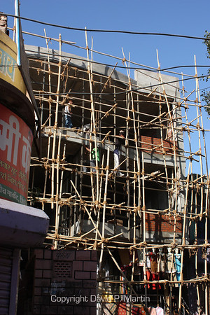 Construction scaffolding.