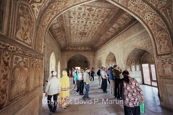 In the Agra fort.