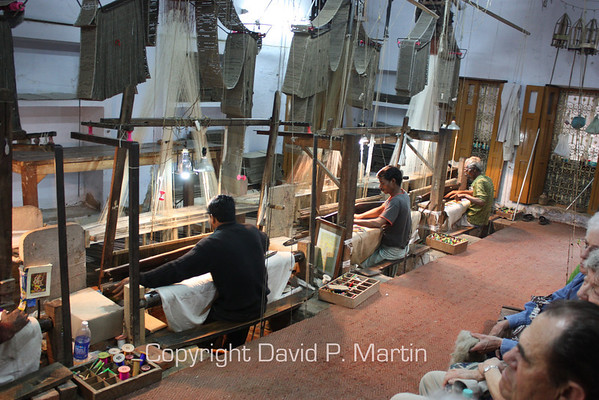 Rug weaving in Varanasi.