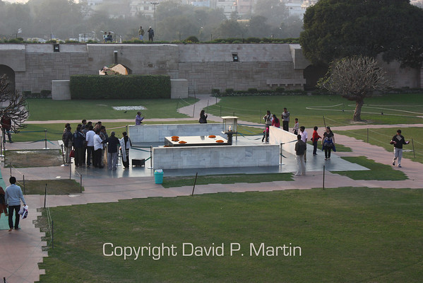 The Raj Ghat, site of the cremation of Gandhi.