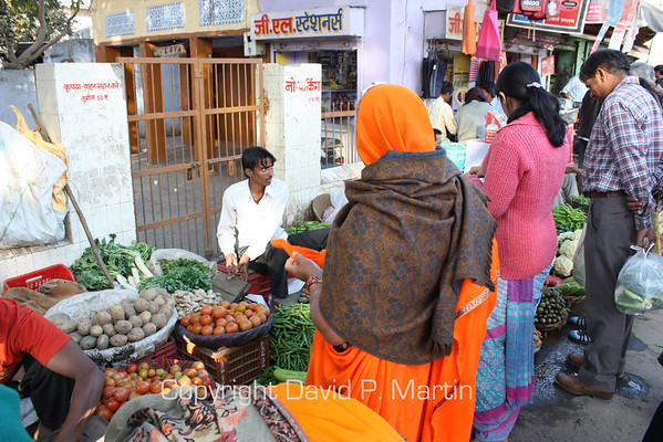 The market in Jaipur.