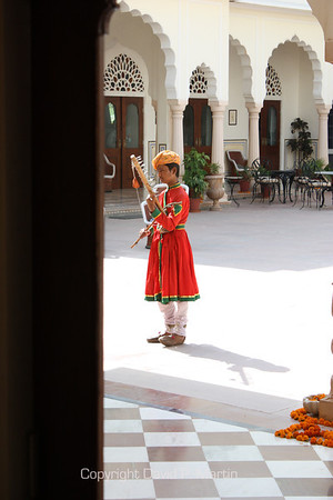 Music in the courtyard.