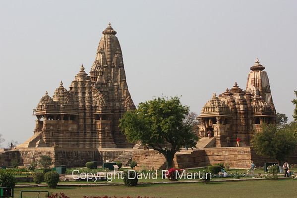 Several temples at Chandela, a World Heritage site.
