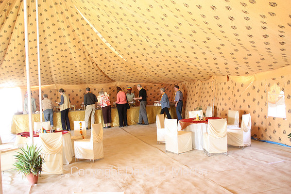 Our dining room tent at the OAT camp in Nagaur.