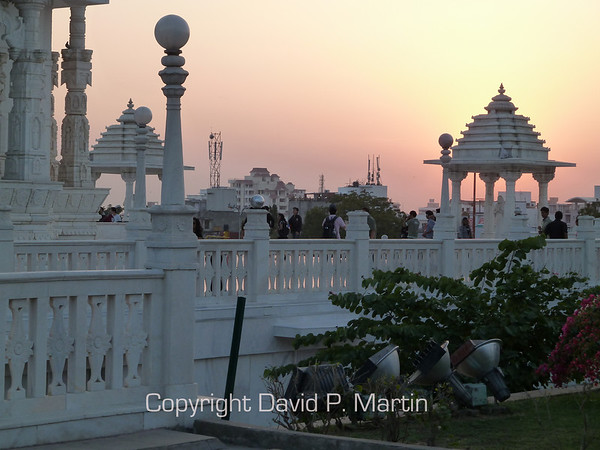 Sunset at the temple.